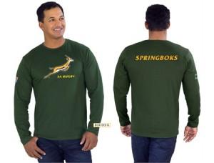 Unisex Long Sleeve Springbok T shirt @ R170.00
